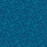 Elegant stilfull abstrakt blom- tapet för blått blad seamless modell Royaltyfria Foton
