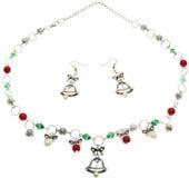 Elegant Stone Jewelry on White Background. Elegant colorful precious stone jewelry on white background royalty free stock images