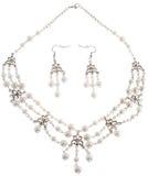 Elegant Stone Jewelry on White Background Stock Photos