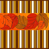 Elegant striped autumn background Royalty Free Stock Photography