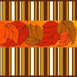 Elegant striped autumn background Royalty Free Stock Photography