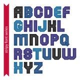 Elegant striped typescript for use in headlines Stock Photo