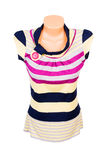 Elegant striped vest on the white. Stock Image