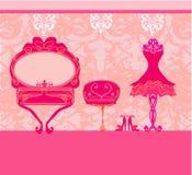 Elegant style dressing room Stock Photography