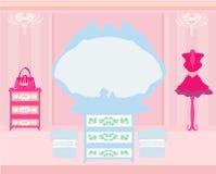 Elegant style dressing room Royalty Free Stock Image