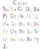 Elegant style font set Vector 12 color. Elegant style font set Vector illustration royalty free illustration