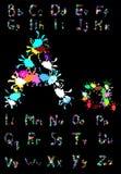 Elegant style font set Vector illustration Royalty Free Stock Images