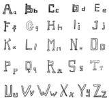 Elegant style font set Vector illustration Royalty Free Stock Image