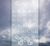 Elegant style font set Vector illustration Royalty Free Stock Photo