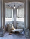 Elegant style sitting Victorian reading space. Stock Photos