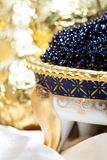 Elegant styling black caviar Stock Photography
