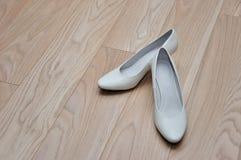 Elegant and stylish bridal shoes. Royalty Free Stock Photos