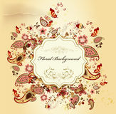 Elegant stylish design with floral vintage Royalty Free Stock Photography