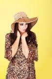 Elegant stylish fashion model Royalty Free Stock Images