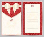 Elegant stylish red greeting card Royalty Free Stock Photo