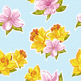 Elegant stylish spring floral seamless pattern Royalty Free Stock Photography