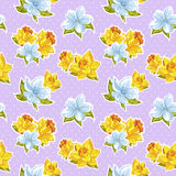 Elegant stylish spring floral seamless pattern Stock Image