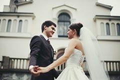 Elegant stylish young couple Royalty Free Stock Images
