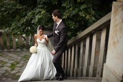 Elegant stylish young couple Stock Images