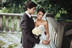Elegant stylish young couple Royalty Free Stock Photos