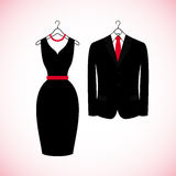Elegant suits icons in flat style. Royalty Free Stock Images