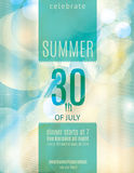 Elegant summer party invitation flyer template Stock Image
