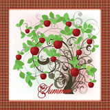 Elegant summer tree card Stock Photos