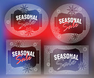 Elegant sun from flat line with symbols of Christmas and New Year Royalty Free Stock Photo