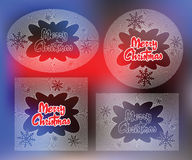 Elegant sun from flat line with symbols of Christmas and New Year Stock Images