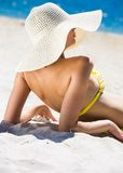 Elegant sunbather Royalty Free Stock Photos