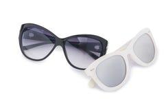 Elegant sunglasses isolated on the white Stock Photo