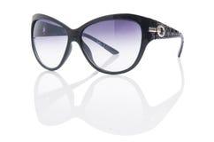 Elegant sunglasses isolated on the white Stock Photos