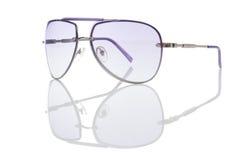 Elegant sunglasses isolated on the white Royalty Free Stock Images