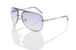 Elegant sunglasses isolated on  white Stock Images