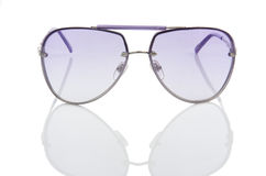 Elegant sunglasses  on the white Royalty Free Stock Images