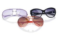 Elegant sunglasses  on the white Stock Photos