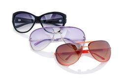 Elegant sunglasses  on the white Stock Photo