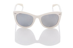 Elegant sunglasses  on the white Royalty Free Stock Images