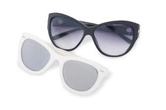 Elegant sunglasses  on the white Royalty Free Stock Photo