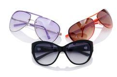 Elegant sunglasses  on  white Stock Photography
