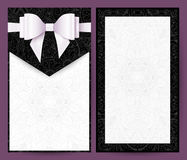 Elegant svartvit vektorbröllopinbjudan vektor illustrationer