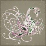 elegant swan coloring page Royalty Free Stock Image