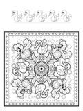 Elegant swan coloring page Royalty Free Stock Photos