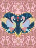 Elegant swan coloring page Royalty Free Stock Photos