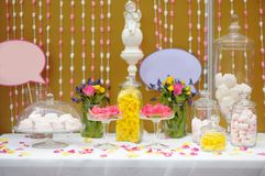 Elegant sweet table or candy bar Stock Photography