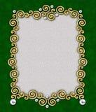 elegant swirl för ram 4 Arkivbild