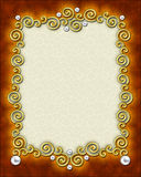 Elegant Swirl Frame Royalty Free Stock Photography