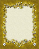 Elegant Swirl Frame Stock Photography