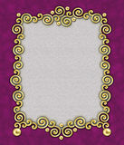 Elegant Swirl Frame 3. A stunning frame of golden swirls & beads against a rich plum background - perfect for the holidays royalty free illustration