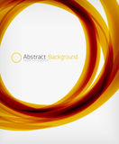 Elegant swirl shaped modern business template Royalty Free Stock Photos